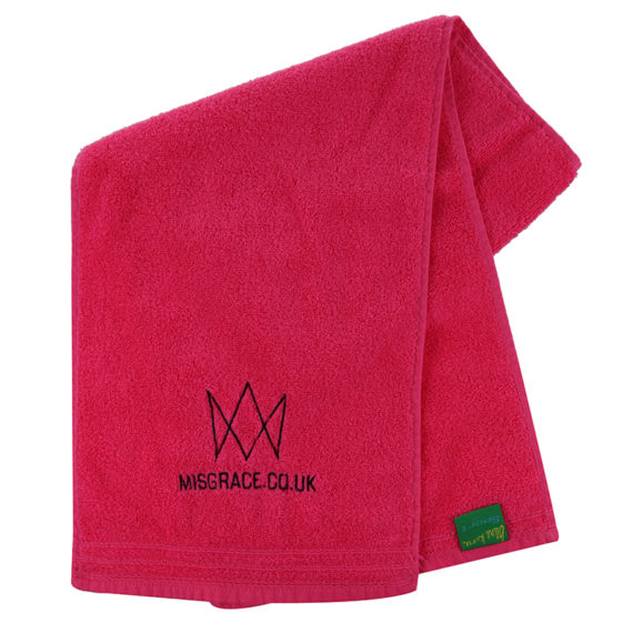 hot pink towel – one size – 12.50