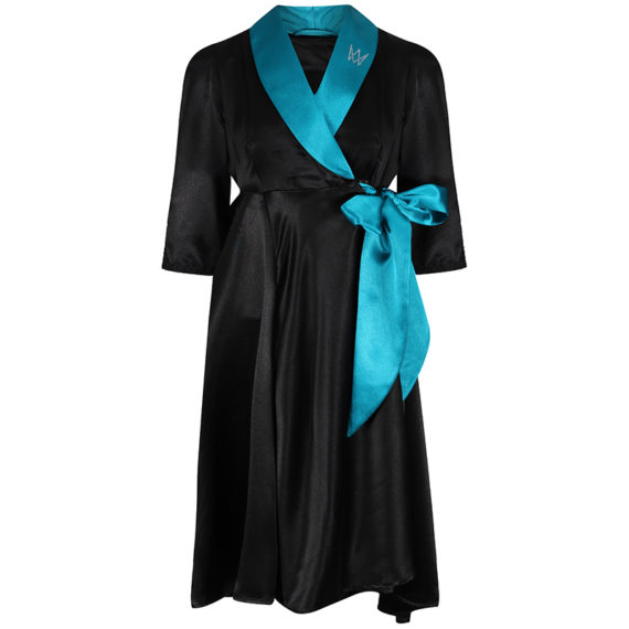 gown mia teal and black